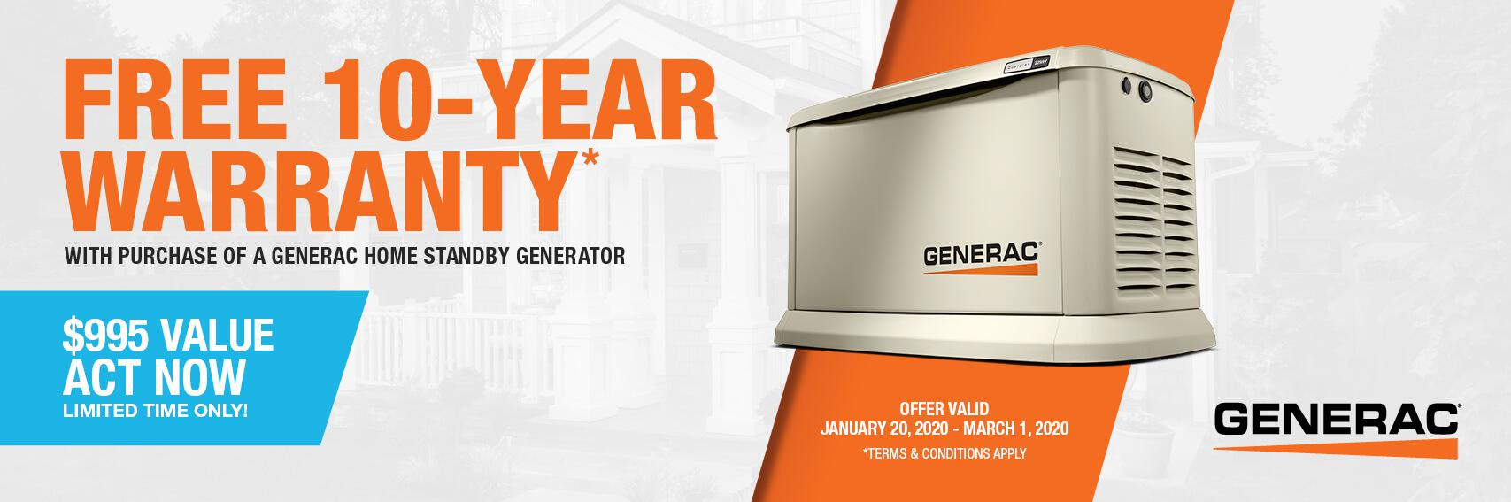Homestandby Generator Deal | Warranty Offer | Generac Dealer | Prairieville, LA